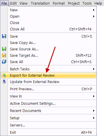 New features in SDL Trados Studio 2011 SP2 (5/6)