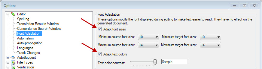 Zoom, font and display issues in SDL Trados Studio 2011/2014 (4/6)