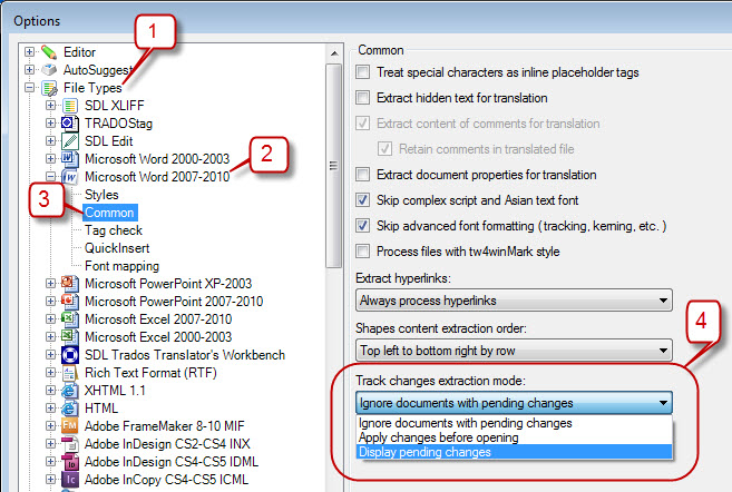 Track changes in SDL Trados Studio 2011 SP2: good news for medical translators (2/6)