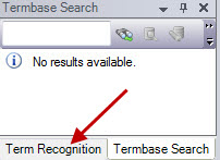 Term recognition tab