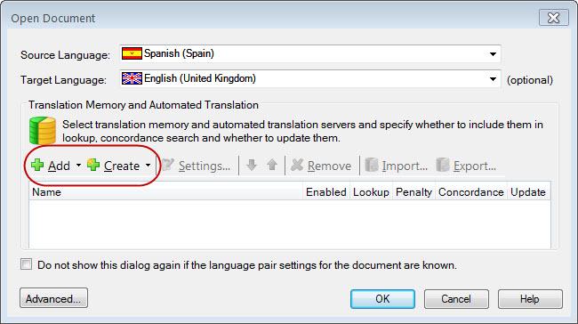 sdl trados studio tm isn t updating my translation memory is empty