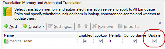 SDL Trados Studio TM isn't updating! My translation memory is empty! (3/5)