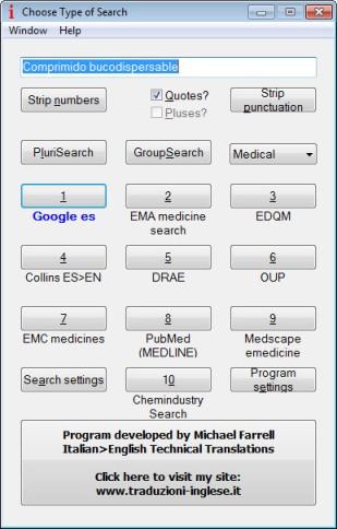IntelliWebSearch settings
