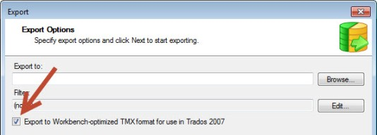 Export for Workbench TM