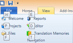SDL Trados Studio 2014: the ribbon