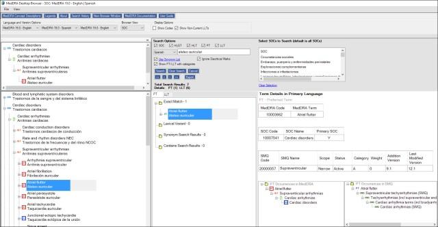 MedDRA new browser